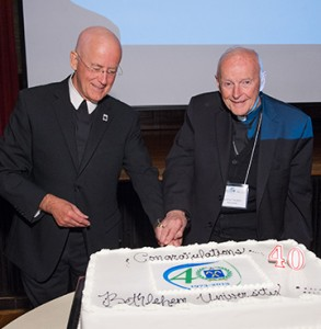 Brother Peter Bray, FSC, and Cardinal Theodore McCarrick