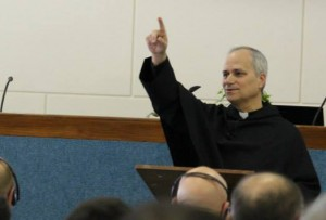 Father Robert Provost leads the retreat.
