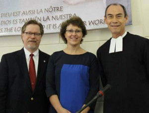 (L-R) Dr. Greg Kopra, Ms. An de Bremme, and Brother Gustavo Rameriz