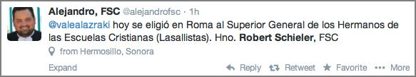 Alejandro, FSC Tweet