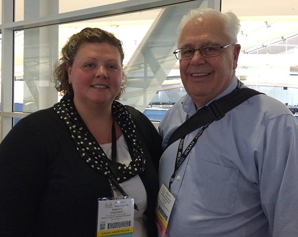 (L-R) Rebecca Tomlinson, Vice Principal for Academic Affairs, and Bro. Richard Kessler, FSC, President, of West Catholic Preparatory High School in Philadelphia, PA