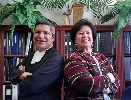 Bro. Nicolas Gonzalez, FSC, and Mrs. Aurora Lujan