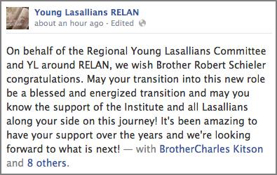 Young Lasallians RELAN Facebook