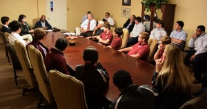 Meeting at Archbishop Rummel