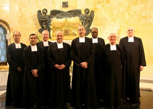 Picture caption: The General Council and Superior General met in February in Rome, prior to the appointment of Brother Rafael Matas, FSC. From left, Brother Gustavo Ramírez Barba, FSC (Lasallian Higher Education), Brother Angel Ricardo (Ricky) Laguda, FSC (PARC), Brother Timothy Coldwell, FSC (RELAN), Brother Robert Schieler, FSC (Superior General), Brother Jorge Gallardo de Alba, FSC (Vicar General), Brother Pierre Saïdou Ouattara, FSC (RELAF), Brother Aidan Illtyd Kilty, FSC (RELEM), and Brother Paulo Petry, FSC (RELAL). Courtesy Institute of the Brothers of the Christian Schools, Communications Service.