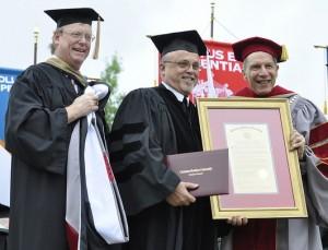 CBU honors Brother Robert. Courtesy CBU