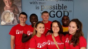 Students from DeLaSalle High School at Feed My Starving Children on their service day. Photo courtesy DeLaSalle High School.