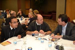 (l-r) Brother Cristhian Diaz Meza, FSC (District of Bogota); Brother Peter Killeen, FSC (Saint Mary's of MN); Brother Cledes Casagrande, FSC (District of Brazil-Chile).