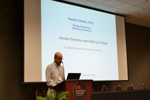 Dr. Hashem Shahin, Ph.D associate professor of human genetics at Bethlehem University, presents on September 28. Photo courtesy of District of San Francisco New Orleans Communications
