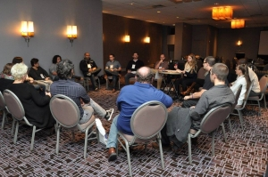 Participants gather together for a casa meeting