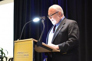 Rev. Mark Massa, S.J., dean of the School of Theology and Ministry and professor of Church History at Boston College, presents. Courtesy District of San Francisco New Orleans.