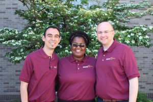 (From left) Brother Chris Patino, FSC, Kennena Amuzie and Chris Swain. Courtesy of the National Religious Vocation Conference.