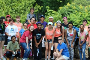 Participants of the Midwest District Lasallian Youth Gathering. Courtesy Christian Brothers University