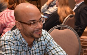 Omar Alegria participates in the final casa discussions.